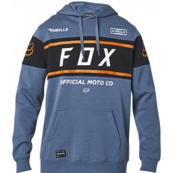 FOX FX OFFICIAL PULLOVER - BLUE STEEL FELPA