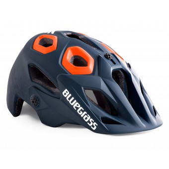 BLUEGRASS GOLDEN EYES BLU SCURO TEXTURE ARANCIONE OPACO CASCO BICI
