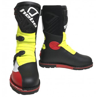 HEBO TECHNICAL 2.0 YELLOW FLUO/RED/BLACK/WHITE  STIVALE TRIAL