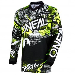 O'NEAL ELEMENT YOUTH ATTACK BLACK YELLOW MAGLIA CROSS JUNIOR