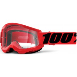 100% THE STRATA 2 RED LENTE TRASPARENTE MASCHERA