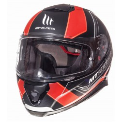 MT    THUNDER 3 SV TRACE MATT BLACK FLUO ORANGE CASCO INTEGRALE