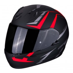 SCORPION  EXO 390 HAWK RED BLACK CASCO INTEGRALE