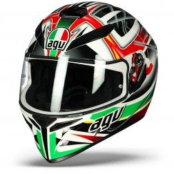 AGV CASCO INTEGRALE K-3 SV MULTI RAV BLACK WHITE RED GREEN