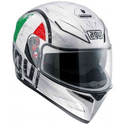 AGV CASCO INTEGRALE K-3 SV MULTI SCUDETTO MATT SILVER