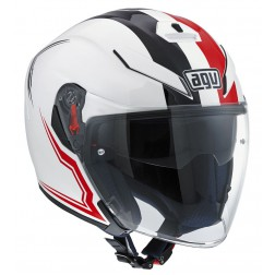 AGV JET K-5 MULTI BRAVE WHITE BLACK RED