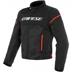 DAINESE AIR FRAME D1 TEX BLACK WHITE FLUO RED GIACCA