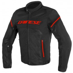 DAINESE AIR FRAME TEX BLACK RED FLUO GIACCA