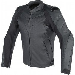 DAINESE FIGHTER NERA GIACCA PELLE