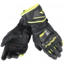 DAINESE DRUID D1 LONG BLACK FLUO YELLOW GUANTI PELLE