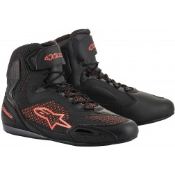ALPINESTARS FASTER-3 SHOES RIDEKNIT SHOES BLACK RED FLUO