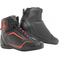 DAINESE AIR RAPTORS  SHOES BLACK FLUO RED SCARPE
